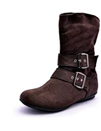 Bruno Manetti Women Brown Suede Boots
