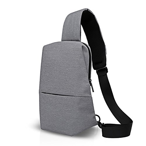FANDARE 2018 Outdoor Sports Rucksack Sling Bag Umhängetasche Messenger Schultertasche Reisen Wandern Daypack Crossbody Bag Kamerarucksack Chest Pack Multiple Storage Polyester Grau