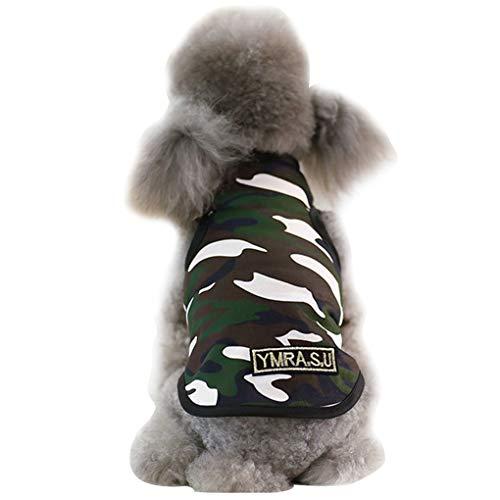 Meisijia Haustiere Weste Pullover mit Stehkragen Sommer Camouflage Kostüm Tier ärmel Mantel-Kleidung (Top 5 Kostüm Für Haustiere)