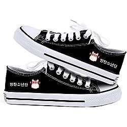 AILIENT BTS Zapatos Classic Suede/Canvas Zapatillas Altas Unisex Adulto Zapatillas Deportivas de Malla Ligera para Mujeres y Hombres BTS Zapatillas Transpirables