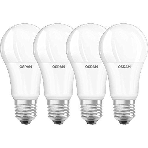 OSRAM LED SUPERSTAR Ampoule LED, Forme Classique: E27, Dimmable, 14,5W Equivalent 100W, 220-240V, dépolie, Blanc Chaud 2700K, Lot de 4 pièces
