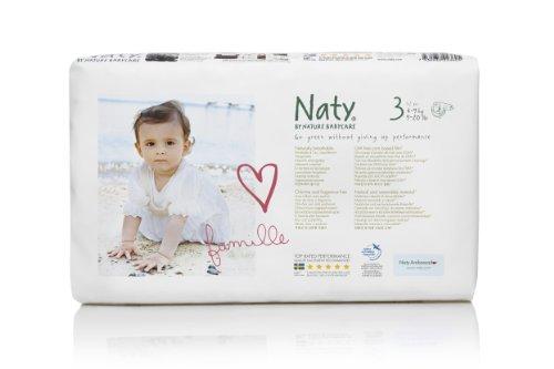 Preisvergleich Produktbild Naty by Nature Babycare Ökowindeln - Größe 3, 4-9 kg, 1er Pack (52 Stück)