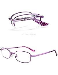 c0a40154db KOMNY Gafas de Lectura BLU-Ray Gafas de Lectura Anti-Azules Moda Femenina  Ultra Ligero lejos y Cerca de Doble…