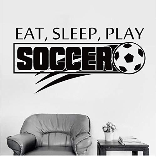 Lsfhb Fußball Fußball Fußball Schlafen Spielen Vinyl Wandaufkleber Aufkleber Junge Kinderzimmer Sport Kinderzimmer Kunst Dekoration45X90 Cm