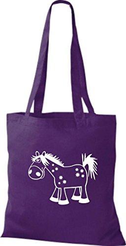 Shirtstown Pochette en tissu Animaux cheval Pony Violet - Violet