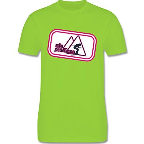 Après Ski - Ski Princess - Herren Premium T-Shirt Hellgrün