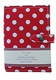 Book of Earrings - Portaorecchini a forma di libretto, un piccolo libro per tenere gli orecchini al sicuro, colore: rosso con pois bianchi