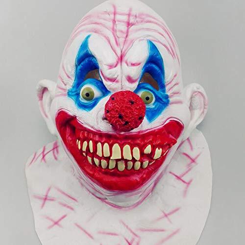 (Halloween Entertaining Maske Horror Latex Funny Ghost Gesicht Clown Maske Make-Up Party Dress Up Requisiten Unisex 1 Stücke Stücke Erwachsene Geschenk,Color,Onesize)