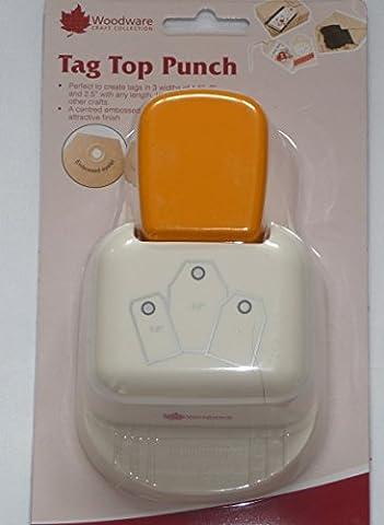 Woodware Punch Perforatrice Étiquette haut droite 1.5,2ou 6,3cm Étiquettes Cadeau