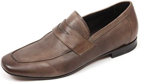 C3910 mocassino uomo ALTIERI MILANO scarpe tortora delave' loafer shoe man