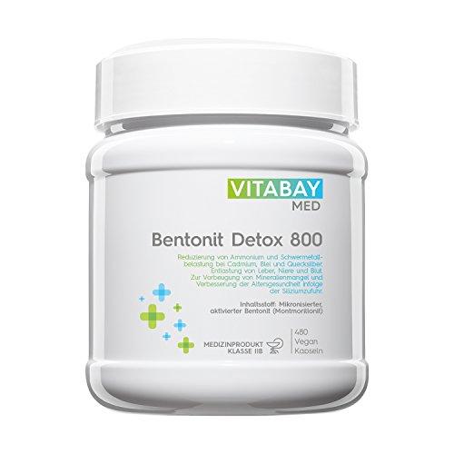 Bentonit DETOX 800 Medizinprodukt - 480 vegane Kapseln