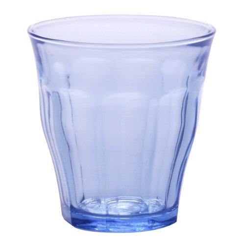 Duralex Picardie 1026BC04 Trinkgläser, 220ml, Marineblau / durchsichtig, 4 Stück