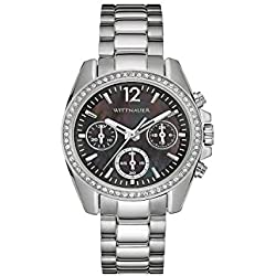 Wittnauer Wn4040 Women's Chronograph Stainless Steel Bracelet Watch