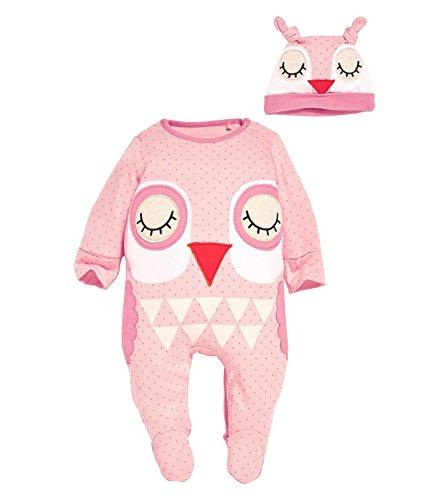 Kleinkind S?ugling Langarm Bodysuit Strampler Set Baby Jungen Tierdruck Baumwolle Overall Babym?dchen Pyjamas Outfit mit Babym¨¹tze (Gerber Baby-overalls)