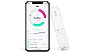 Termometro basale per ovulazione Bluetooth Ovy | Termometro digitale basale con app gratuita per iOS e Android | Termometro temperatura basale