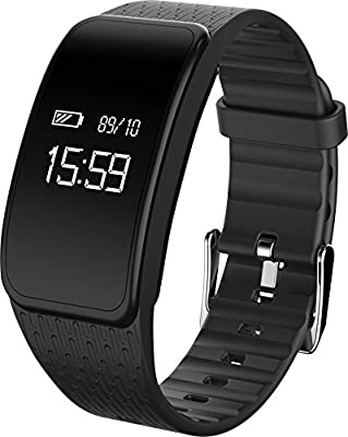 Getfitsoo Sport Fitness Tracker with Heart Rate Monitor Smart Bracelet Watch Wireless Monitor Bluetooth 4.0 Wristband with Sleep Monitoring Pedometer Message Reminder for iOS Android Phone by Getfitsoo