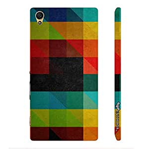 Sony Xperia Z5 Dual Coloured Blackboard Triangle designer mobile hard shell case by Enthopia
