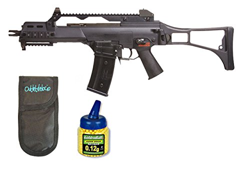 Pack Rifle Airsoft SR36C TMll AEG Electrico. Calibre 6mm. + Funda Portabalines + Biberon 1000 bolas. 23054/21993