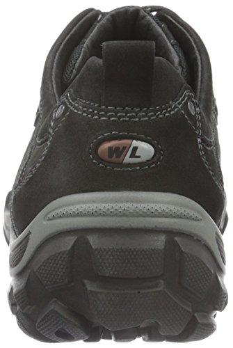 WaldläuferHennes - scarpe da escursione Uomo Nero (Gummi 2X Denver Sharon schwarz)