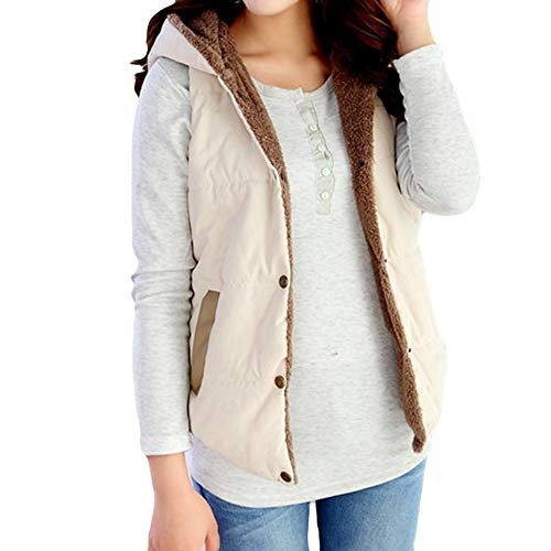 MOIKA Damen Kapuzenpullover,Frauen-mit Kapuze Weste Outwear Warmer Mantel-Lange Starke Baumwolle gepolsterte dünne Jacke