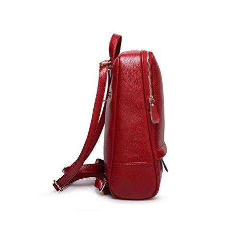 Damen Einfache Schultertasche Rucksack Mode Britischen Frauen Tasche Wilde Freizeit Beige