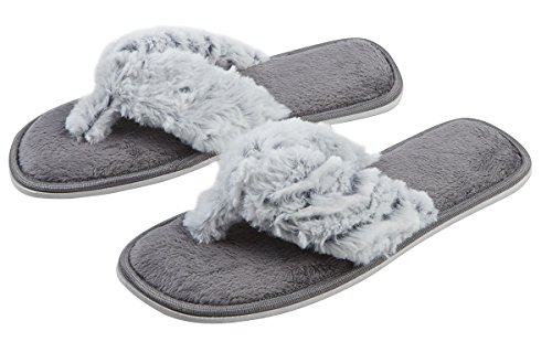 4Kidz , Chaussons pour fille Grey Open Toe Slipper
