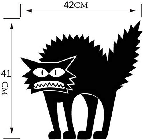 Halloween Thriller Katze Glas Sticker Personalisierter Wandaufkleber Groߠ42X41Cm