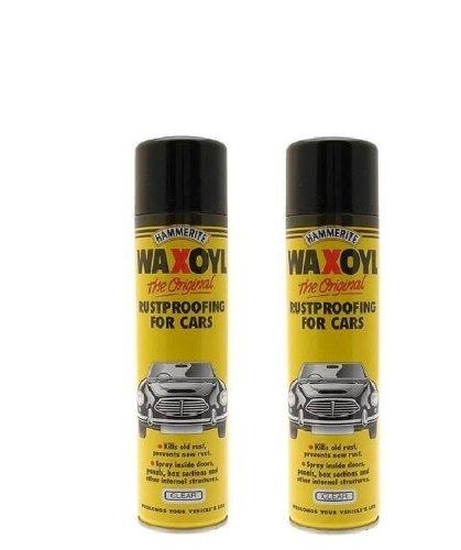 2-x-hammerite-waxoyl-clear-400ml-aerosol-spray-rust-proof-prevention-5092943