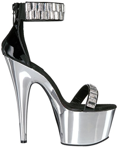 Pleaser ADORE-769RS Blk/Slv Chrome