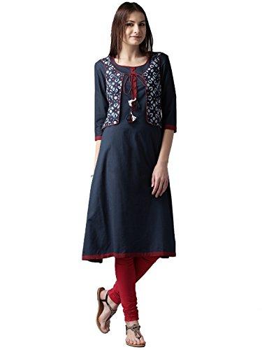 RAMRATH Women's Cotton Kurti (Lntk02_Blue_X-Large)