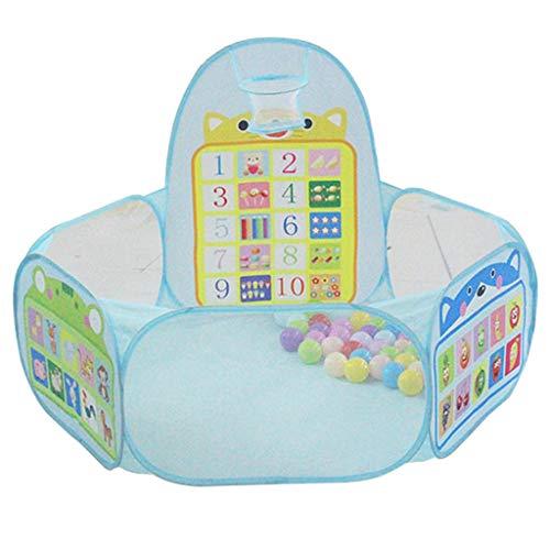 FLAMEER Faltbarer Pop Up Zelt Bällebad Bällchenpool mit Basketballkorb Kinderspielzeug für Innen- oder Außenbereich ( Ohne Bäll )