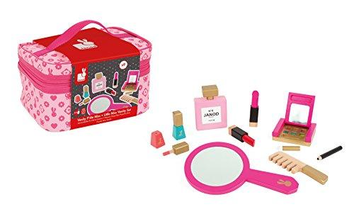Janod J06514 - Schminkspiel Little Miss rosa (Inkl. 9 teile (Miss Little Kostüme Kinder)