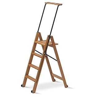 Arredamenti Italia AR_IT - 170/4 TUSCANIA folding ladder 4 steps finishing cherry wood.