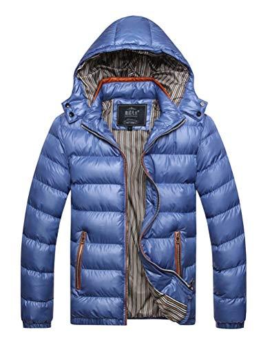 Robo piumino giubbotti con cappuccio removibile uomo cappotti impermeabile parka addensareda con cerniera invernale it s-2xl