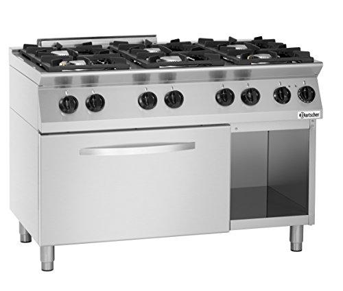 Cuisinière 6 feux avec four électrique GN 2/1 - Bartscher 1582201