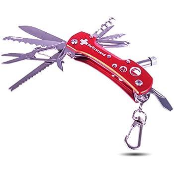 Multifunktionstool Switzerland 9 in 1 Multifunktionsmesser Taschenmesser Sackmesser Outdoor Swiss Switzerland mit 9 Funktionen