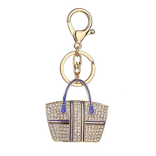 (Weimay Keychain Tasche Anhänger Auto Handy Taille Handtasche Muster Hängen Dame Rucksack Dekoration Schlüsselanhänger)