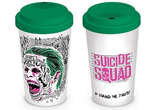DC Comics Suicidio Squad El Joker cerámica Taza de Viaje, Multicolor