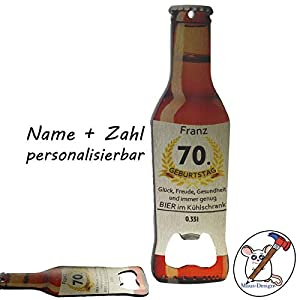 Flaschenöffner mit Name zum Geburtstag/Personalisierter Flachenöffner/Geburtstagsgeschenk mit Name/Personalisiertes Geburtstagsgeschenk/Jubiläum / 18. 20. 25. 30. 40. 50. 60. 70. 80. 90.