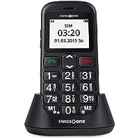 swisstone BBM 320c - GSM-Mobiltelefon mit großem beleuchtetem Farbdisplay, schwarz