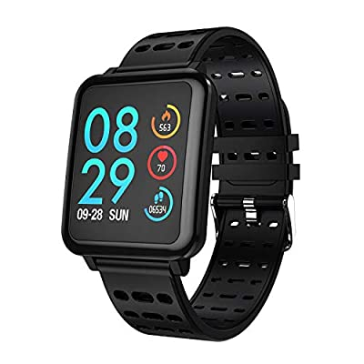 COULAX Bluetooth Smart watch, Fitness Tracker, Activity Tracker Pedometer with Heart Rate Monitor Sleep Monitor Steps Counter Calls SMS Notification Remote Camera Music for Kids Women Men from COULAX
