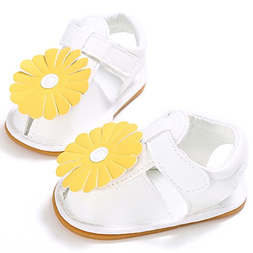 Sandals Bébés Filles Antidérapant Charmant Chaussures Premiers Pas Blanc