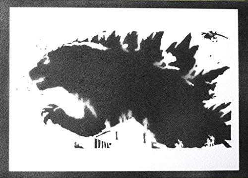 Godzilla Poster Plakat Handmade Graffiti Street Art - Artwork