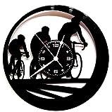 Wanduhr aus Vinyl, Vintage-Geschenk, Handgefertigt, Karma Home – Tour de France – Fahrrad