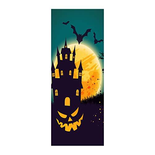 Mitlfuny Halloween coustems Kürbis Hexe Cosplay Gast Ghost Schicke Party Halloween deko,Außenhandel Neue Halloween kreative lustige Tür Aufkleber Glas Fenster Aufkleber (Kühlschrank Box Kostüm)