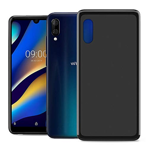RIFFUE Coque Wiko View 3 Lite, Housse Etui Silicone Gel TPU Souple Ultra Mince Ultra Léger Anti Choc Protection Premium Slim Bumper Case Cover pour Wiko View3 Lite - Noir