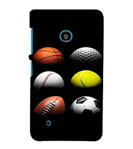 ifasho Designer Back Case Cover for Nokia Lumia 530 :: Nokia Lumia 530 RM 1017 :: Nokia Lumia 530 Dual SIM :: Microsoft Lumia 530 Dual (Balls Berlin Germany Udgir)