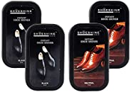 Shoeshine Shoe Shiner Sponge - For All Smooth Leather Formal, Oxford Office Shoes (Pack of 4 Pcs)