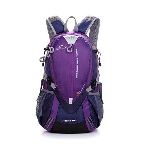 BM Borse da viaggio impermeabile Escursionismo Outdoor Pack per uomini e donne equitazione zaino 25L zaino , red Purple