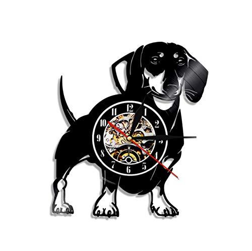 Menddy Dackel Hund Wand Vinyl Led Wand Vintage Lp Rekord Lampe Led Lichter Dekorative Kunst Geschenk Für Hundeliebhaber Keine Led Licht 12 Zoll -